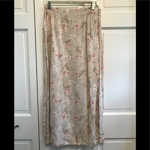 The Limited Tan Floral Wrap Skirt